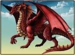 Огненно красный дракон