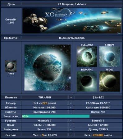 Данные о планете