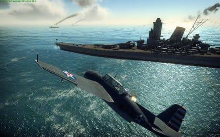 Летая на самолёте вам нужно уничтожать корабли, наземную технику и воздушные цели
