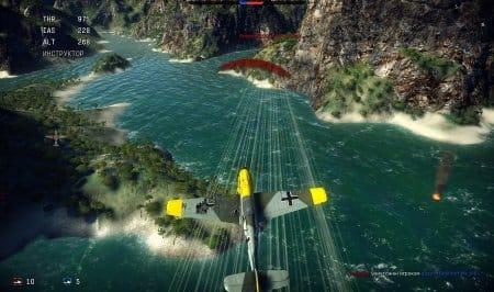 В игре постоянно нужно постоянно быть сконцентрированным, потому что вражеский самолёт может появиться где угодно