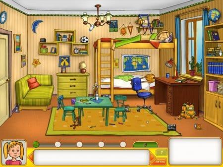 Комната в игре Папины дочки