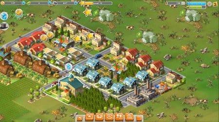 Развитый город в Rising Cities