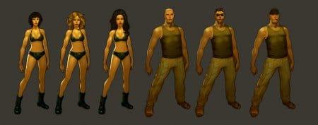 Внешний вид героев Riotzone
