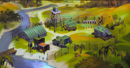 Лагерь отряда в Riotzone