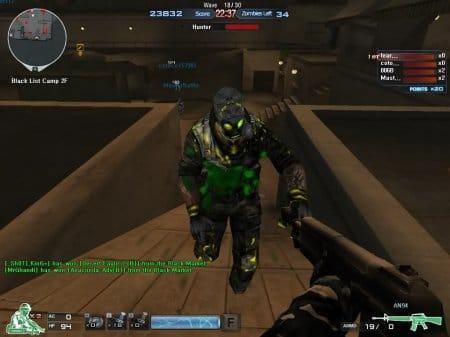 Один из мутантов в режиме Зомби Crossfire