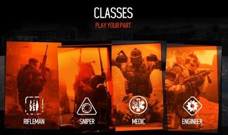 Классы персонажей в Warface