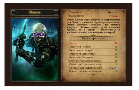 Уникальные войска игры - Нежить