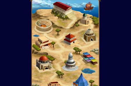 Некоторые из зданий города в игре Polemo