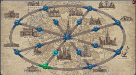 Путешествовать по игре можно с помощью карты