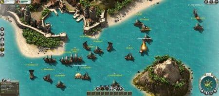 Поразительное количество игроков возле одного острова