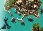 Остров с несколькими кораблями вокруг