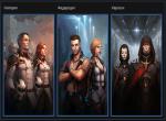 Представители каждой расы игры Star Conflict