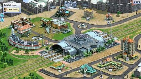 Железнодорожная станция в игре Rail Nation