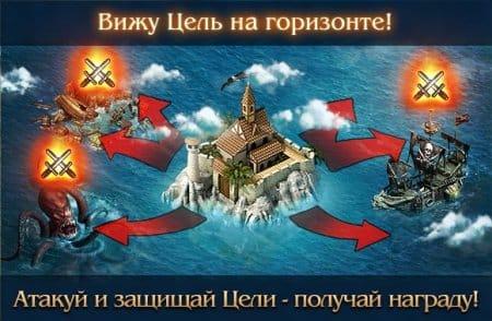 Особенности целей в игре Кодекс пирата