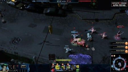 Нападение на одного персонажа на игровой карте.