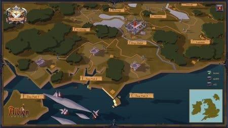 Карта мира Albion Online